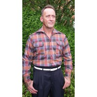Orange Plaid Ricardo Gab Shirt