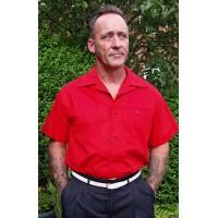 Red 1950s Short Sleeved Shirt