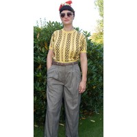 'Katherine' Checked Swing Trousers