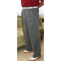 Grey Pinstripe 40Ts High Waisted Trousers