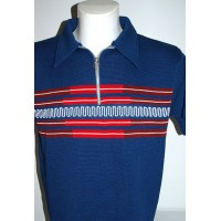 Blue Zipper ' Fazed Out ' Knitted Shirt