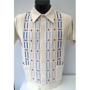 Cream Pockets Knitted Shirt