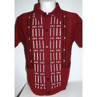 Claret Pockets Knitted Shirt