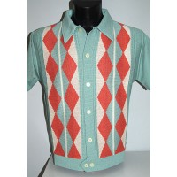 Mint Argyll Knitted Shirt