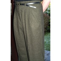Green Fleck High Waisted Trousers