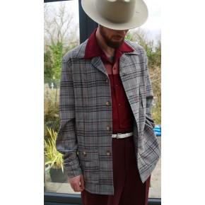 Grey Plaid Hollywood Jacket
