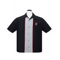Steady - Black V8 Piped Shirt