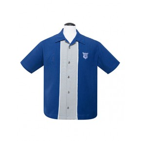 Steady - Blue V8 Piped Shirt
