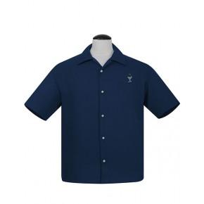 Steady - Navy Martini Button Shirt