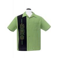 Steady - Green pinstripe panel Shirt