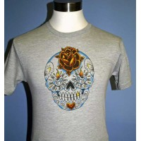 Steady Clothing - Grey Sugar Skull T-Shirt