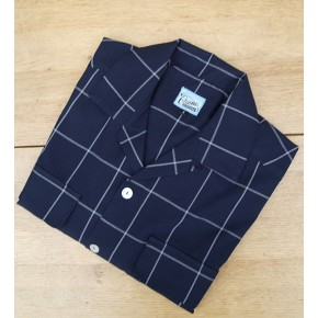 Navy Window Pane Check Gab Shirt