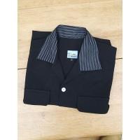 Black/Silver Sparkle Collar Long Sleeve Gab Shirt
