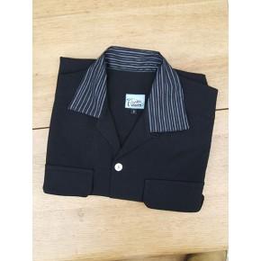Black/Silver Sparkle Collar Gab Shirt