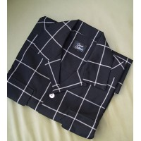 Black Window Pane Check Long Sleeve Gab Shirt