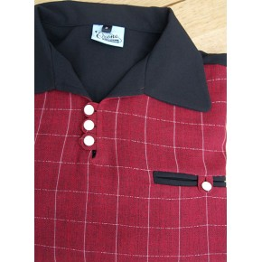 Black/Claret Check Gaucho Shirt