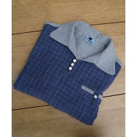 Grey/Blue Check Gaucho Shirt