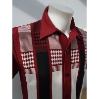 Claret Checkered Knitted Shirt