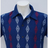 Blue 3 Diamond Knitted Shirt