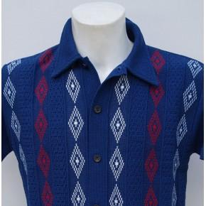 Blue 3 Diamond Knitted Shirt