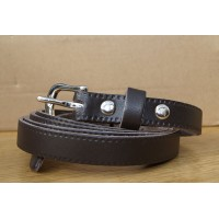 Dark Brown Thin Belt