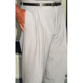 Pearl Grey High Waisted Trousers