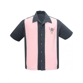Steady - Charcoal/Pink Tropical Itch Shirt