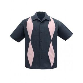 Steady - Charcoal/Pink Diamond Duo Shirt