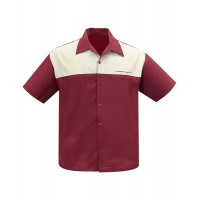 Steady - The Earl Burgundy/Stone Panel Shirt