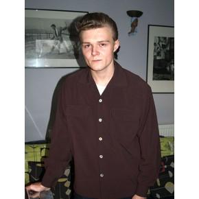 Dark Brown Long Sleeved Gab Shirt