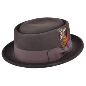 Dark Brown Pork Pie Hat