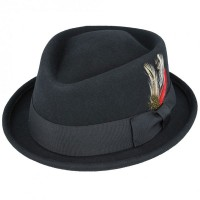 Black Diamond Crown Pork Pie Hat