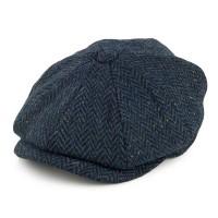 Navy Blue Fleck Newsboy Cap