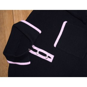 'The Franco' Black and Pink Knitted Shirt