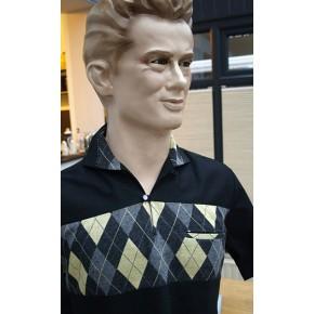 Swankys - The 'Eddie' Pullover Grey/Yellow Argyll Shirt
