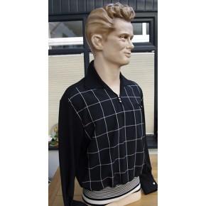 Black Check Light Weight Gaucho Shirt
