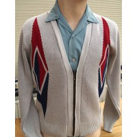 'The Longo Rombo ' Light Grey Cardigan