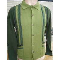 'The Enrico' Green Knitted Shirt