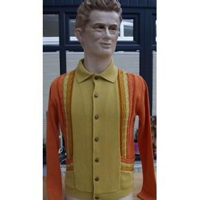 'The Enrico' Pale Orange Knitted Shirt
