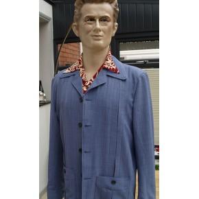 Powder Blue Seersucker Hollywood Jacket