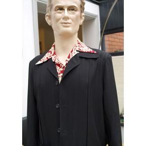 Black Seersucker Hollywood Jacket