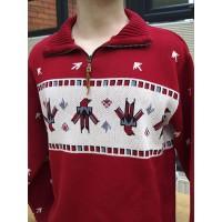 Dark Red - Thunderbird Zip Pullover