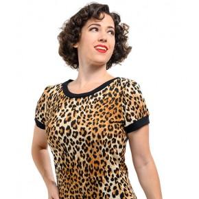 Steady - Ladies Leopard Print Top
