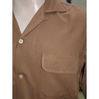 Tan Long Sleeved Gab Shirt
