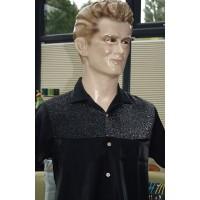 Black Lurex Short Sleeve Shirt