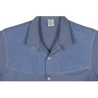 Blue Lurex Short Sleeved Shirt