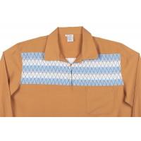 Tan Zigzag Pull Over Shirt