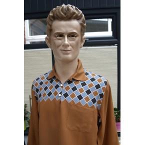Tan Harlequin Pull Over Shirt