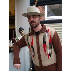 ' The Santa Fe ' Sand Knitted Zipper