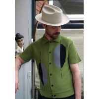 'The Boogaloo' Green Knitted Shirt